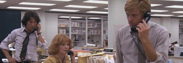 Die Unbestechlichen: Dustin Hoffman und Robert Redford bei der Recherche.