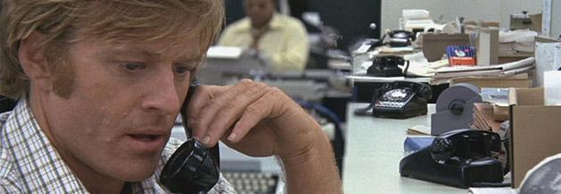 Rebort Redford alias Bobwoord in dem Film Die Unbestechlichen.