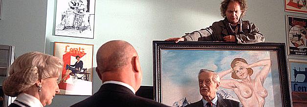 Braun, brauner, am braunsten. Altnazis schmücken sich mit vermeintlicher Hitler-Kunst. Dass sie der Fälscher Dr. Knobel (oben, Uwe Ochsenknecht) an der Nase herumführt, ahnen sie nicht.