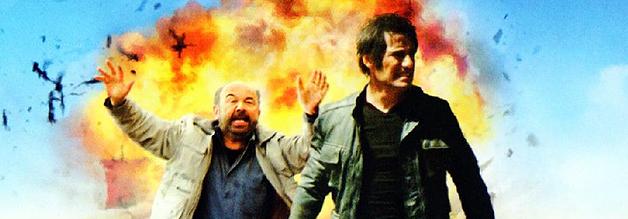 Journalistenduo Infernale aus dem Original: Envoyés très spéciaux ist die Vorlage für Ricky Gervais' Special Correspondents. Hier ein Ausschnitt vom Filmplakat.