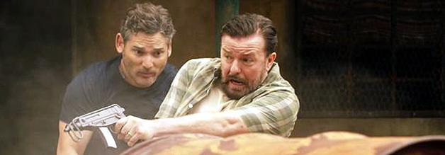 Lahme Action zum Ende eines lahmen FIlms: Frank (Eric Bana) und Ian (Ricky Gervais) verschlägt es tatsächlich nach Ecuador, weil sie irgendwie ihre inszenierte Entführung auflösen müssen.