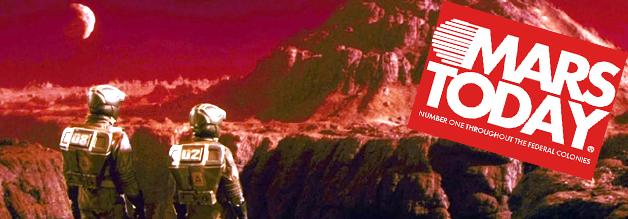 Wissen, was auf dem roten Planet abgeht? Mars Today lesen - dabei gewesen! Bildmaterial: TriStar Pictures.
