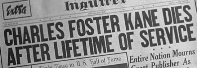 Der Beginn von Charles Foster Kanes' Yellow Press-Emperium - der New York Daily Inquirer. Bildmaterial: DVD von Arthaus.