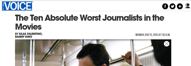 The ten absolute worst journalists in the movies