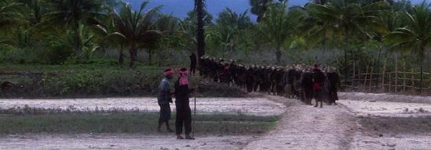 Aus dem proklamierten Bauern-Utopia wird schnell ein auf Terror und Totalität aufgebautes Regime. Harte Zwangsarbeit steht auf der Tagesordnung.