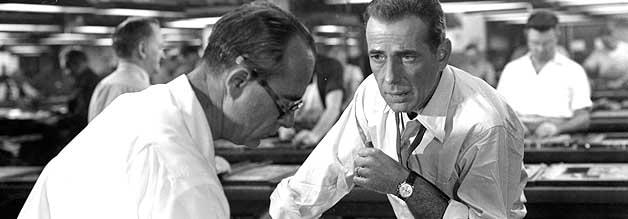 Markige Type: Humphrey Bogart schlüpft in die Rolle des Chefredakteurs Ed Hutcheson.