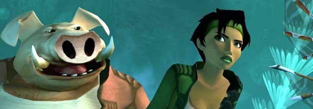 Fragt nicht nach den Verwandtschaftsverhältnissen: Jade und ihr Onkel Pey'j sind die Stars in Ubisofts Beyond Good and Evil.