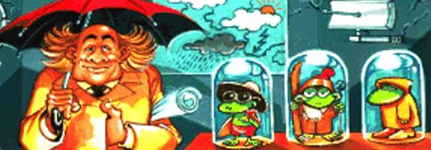 Wie wird das Wetter, Chef? Mit dem Frosch im Glas ist die Vorhersage nicht so genau.