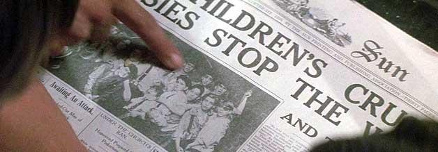 Die Newsies liefern: Ihr Arbeitskampf schafft es auf die Titelseite der Sun. Allerdings wärt die Freude nur kurz...