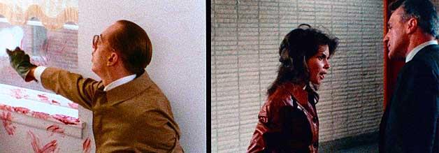 Ein starkes Stück: Die Polizei glaubt der Journalistin nicht. Dabei sieht sich Grace Collier als Hüterin der Wahrheit. In der fraglichen Wohnung räumt derweil der Besuch auf. Die Split Screen-Sequenz gehört zu den eindruckvollsten Szenen in Sisters - Die Schwestern des Bösen.