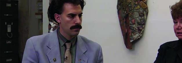 Borat bei den Feministinnen: Die Gedanken driften ab, zu seiner Traumfrau: Pamela Anderson.