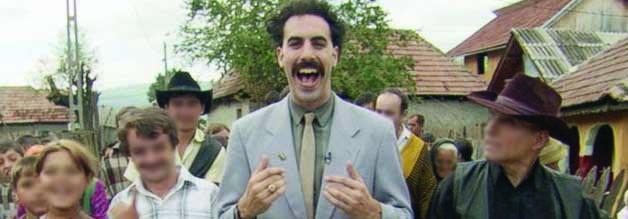 Die kasachische Regierung nimmt Borat nicht gut auf - kein Wunder, wird das Land  als  rückständig verulkt. Kasachstan kann mit dem Erfolg des Films aber doch noch lachen. Was man von den Bewohner des rumänischen Örtchens Glod nicht behaupten kann (Unkenntlichmachung durch journalistenfilme.de).
